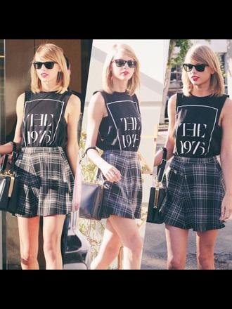taylor swift plaid skirt vintage