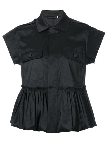 Harvey Faircloth blouse women spandex black top