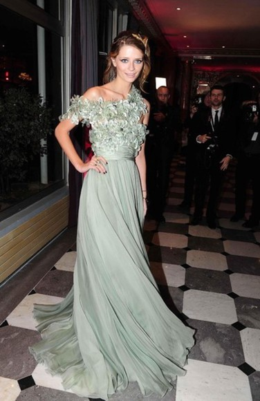 dress mint prom elie saab gree