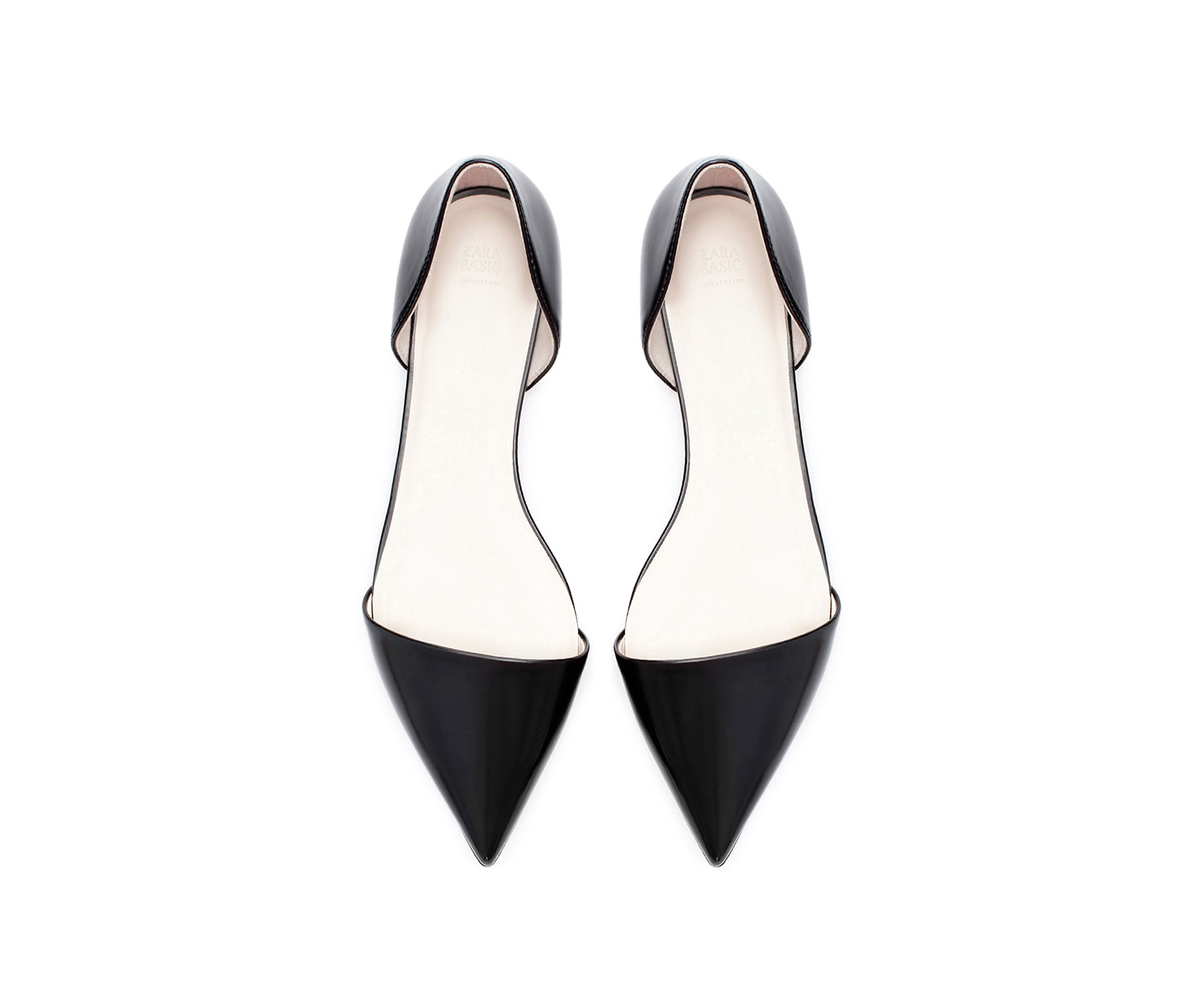 Flat Black Pointed Shoes Uk