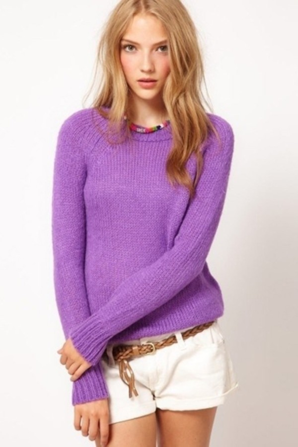 sweater persunmall purple clothes