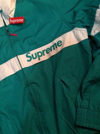 jacket supreme green jacket