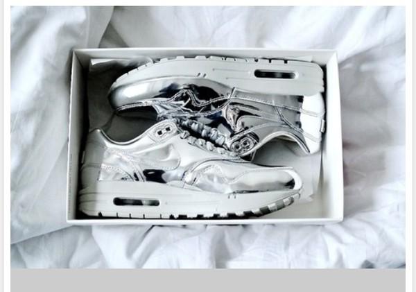 shoes air max nike silver