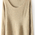 Beige Long Sleeve Sequined Loose Pullovers Sweater - Sheinside.com