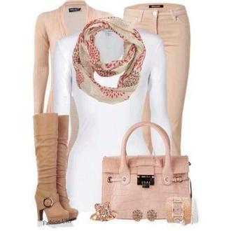 shoes pants scarf bag coat jacket jewels sweater