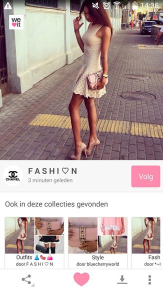 cute dress cute high heels cute bag