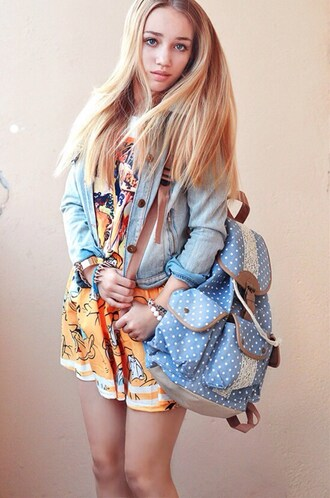 skirt ukraine yellow cartoon donald duck flare skirt aksinya air bag jacket denim backpack