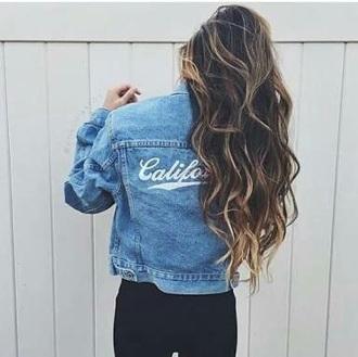 jacket denim quote on it grunge denim jacket california usa