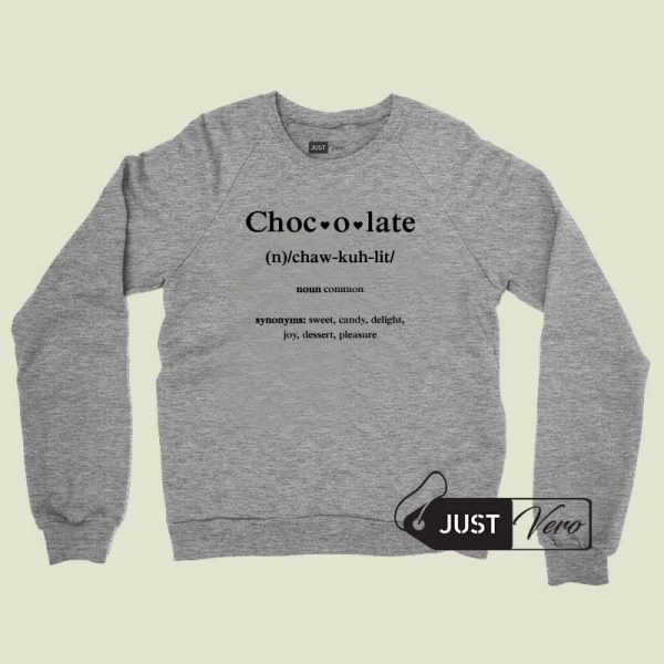 Chocolate Sweatshirt Unisex size S,M,L,XL,2XL and 3XL