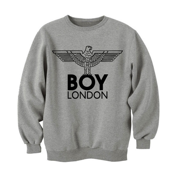 Boy London Eagle Sweatshirt Sweater Jumper Top Tshirt Hoodie... - Polyvore