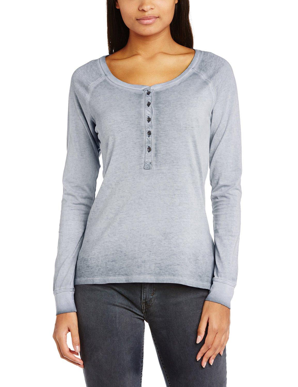 Esprit Women's 114EE1K017 Button Front Long Sleeve T-Shirt ...