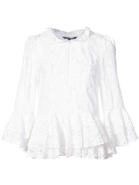 Marissa Webb blouse women lace white cotton top