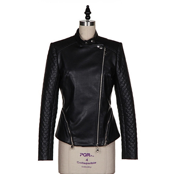 jacket badass chic faux leather biker jacket biker motorcycle makeup table vanity row dress to kill rock vogue black quilted