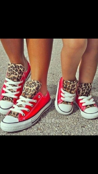 kids fashion coverse leopard print