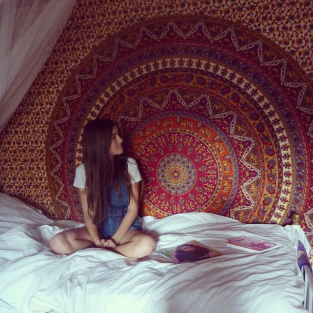 Blouse hippie in bedding boho tapestry bohemiam