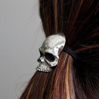 hair accessory skull skullface