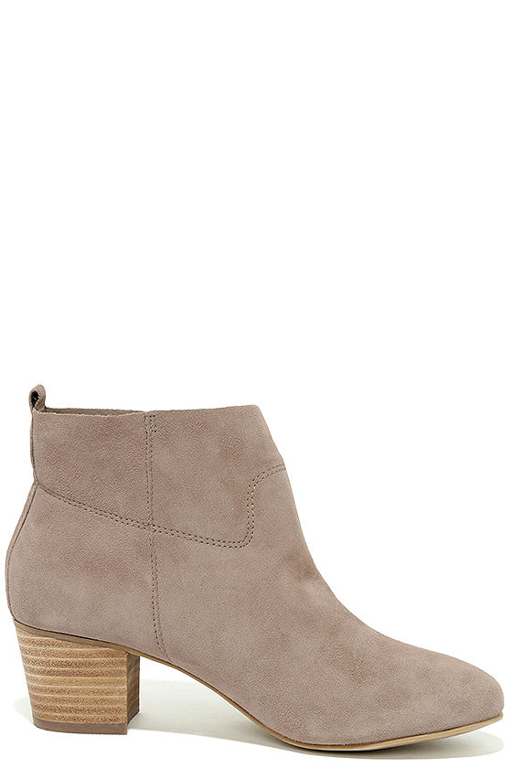 Steve Madden Harber Taupe Suede Leather