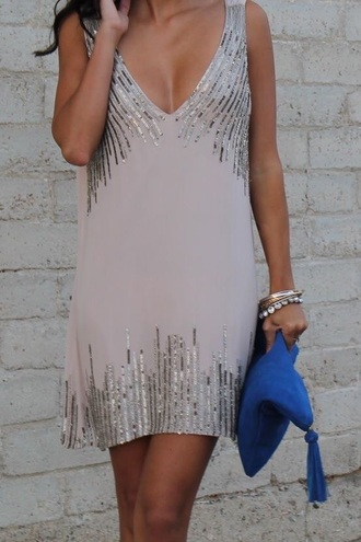 dress clothes sleeveless deep v sparkle