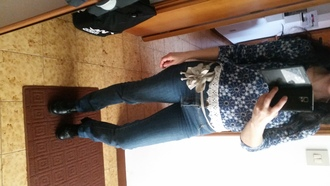 shoes derbies woman derbies leather shoes black leather shoes francesine francesina denim jeans flower belt crochet top french shoes sweet floret crochet shirt sweater derbie golfino blue jeans ordinary people woman blouse women denim jacket