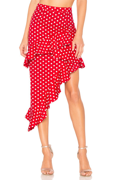 MAJORELLE skirt red