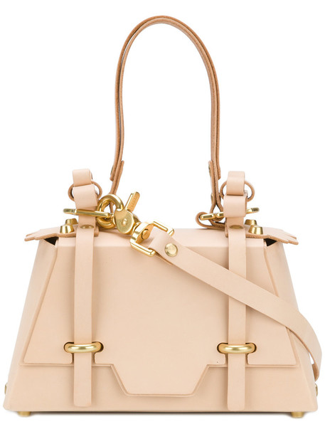 bow women leather nude bag