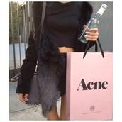 jacket,acne studios,knit,black,coat