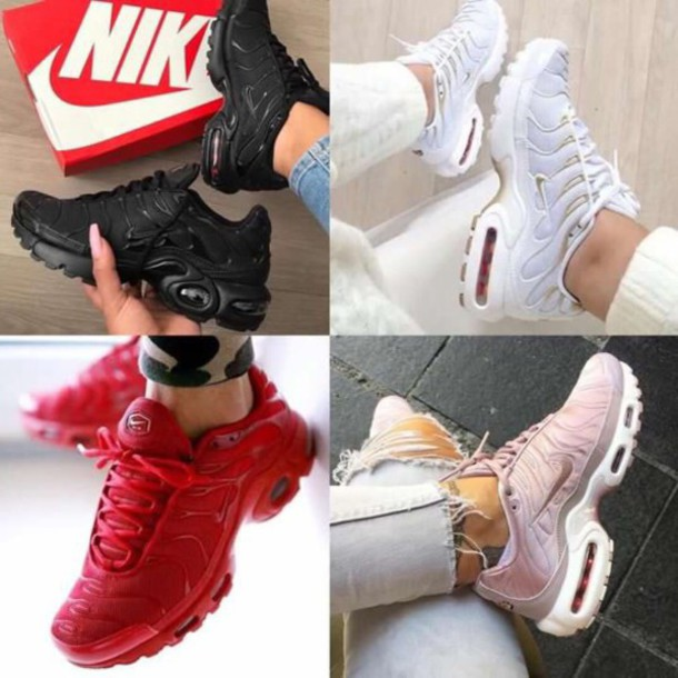 shoes nike pink red white black nike shoes