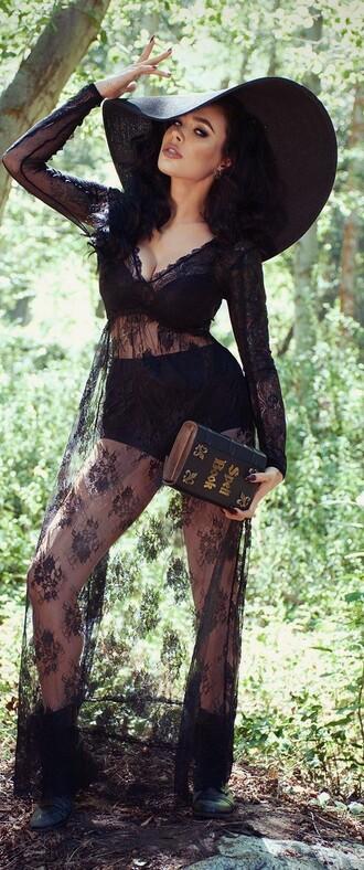 dress black sheer dress sheer witch witchy black dress black dark