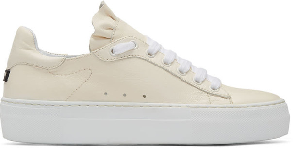 Jil Sander Navy ruffle sneakers beige shoes