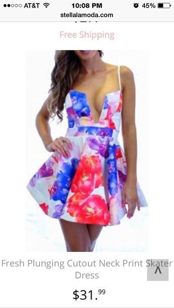 dress floral mini dress
