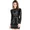 Deep detail jerica long-sleeve dress – dream closet couture