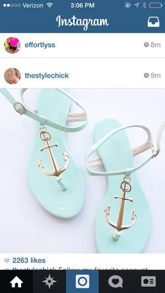 anchor shoes mint shoe