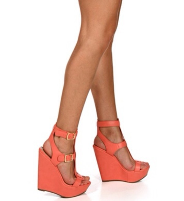 shoes coral wedges sandals