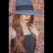 hat,accessories,grey hat,grey,fashion,style,shopdollhaus,fedora,wool