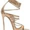 120mm elaphe snakeskin lace-up sandals