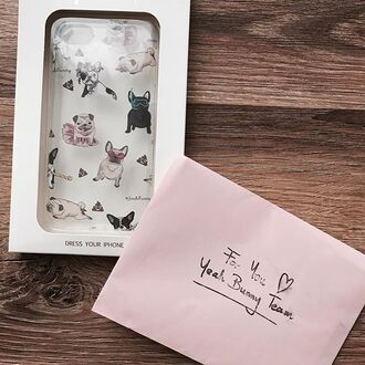 phone cover yeah bunny dog frenchie pugs transparent bestseller