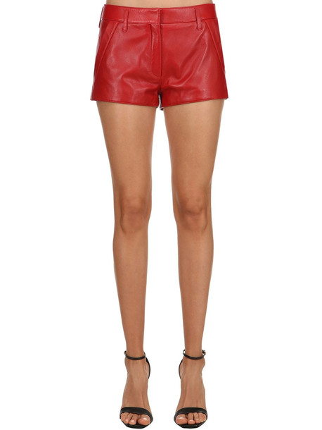 shorts leather shorts leather red