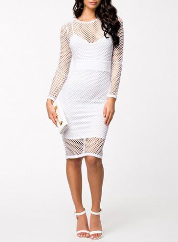 Mesh Fish Net Summer Dress