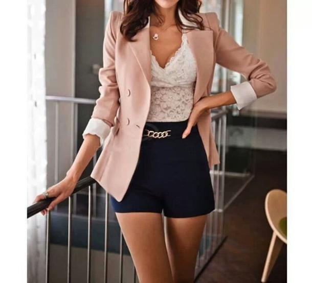 coat shorts jacket t-shirt dress blouse belt blazer shirt top tank top bodysuit cute lace cami lace top style summer dress