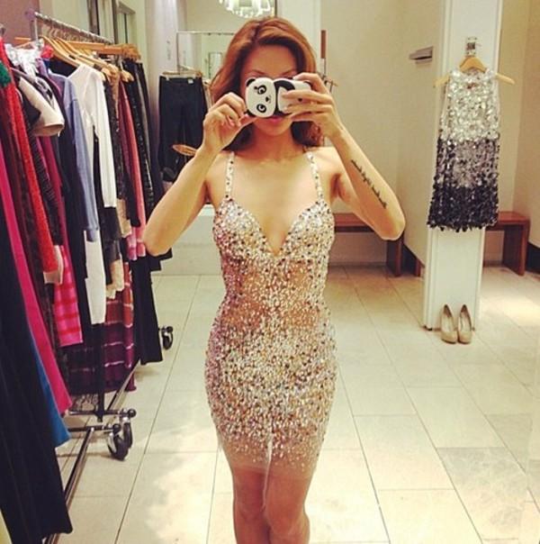 dress sequins glitter sequin dress