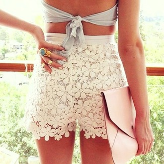 shoes shorts flowers top