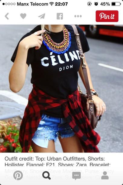 shirt t-shirt celine shirt black t-shirt black graphic tee