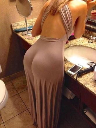 dress beige dress maxi dress