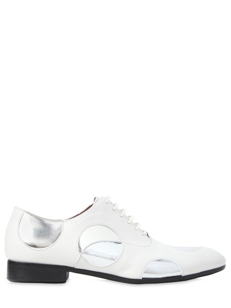 MARNI shoes lace-up shoes lace leather silver white