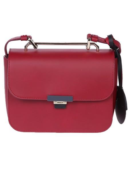 Furla mini bag shoulder bag leather red