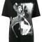 Givenchy - bambi printed t-shirt - women - cotton - xs, black, cotton
