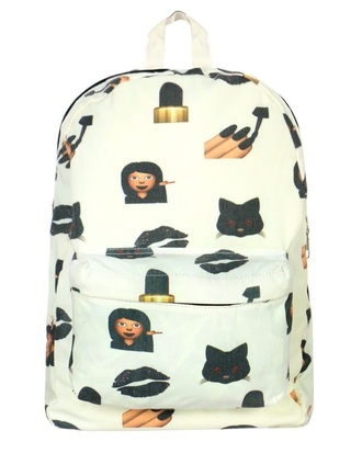 bag emoji print bookbag backpack emoji book bag emoji back pack printed backpack