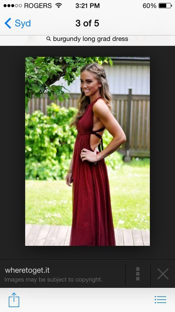 dress burgundy open back