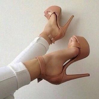 shoes high heels nude platform shoes elegant shoes