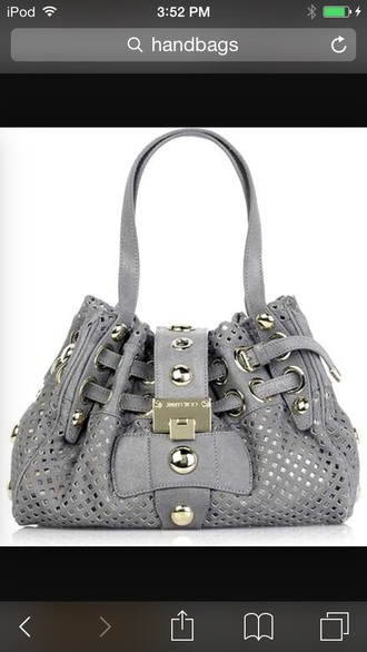 bag grey purse gold design